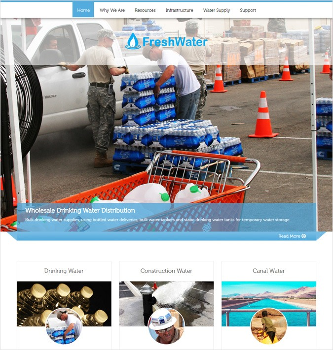Water Distribution WordPress Theme