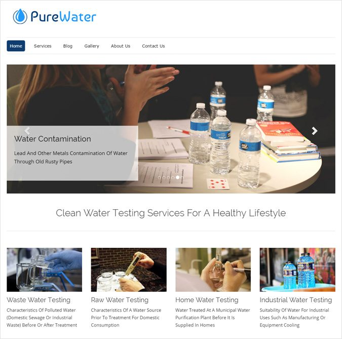 Water Testing Agency WordPress Theme