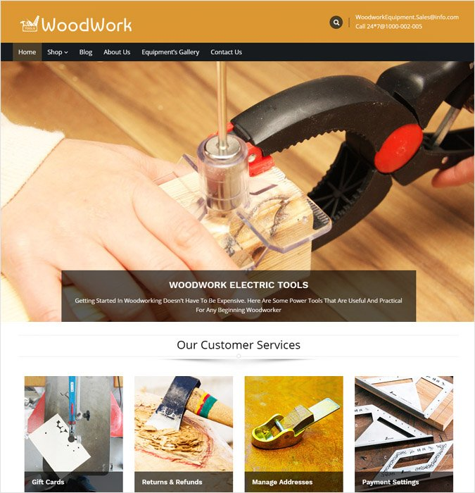 WoodStore WP theme