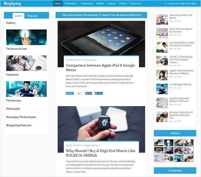 WordPress Theme For Blogging & Magazine Sites
