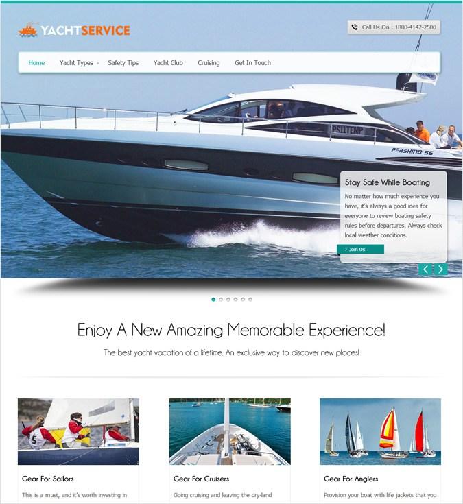 YachtService WP theme