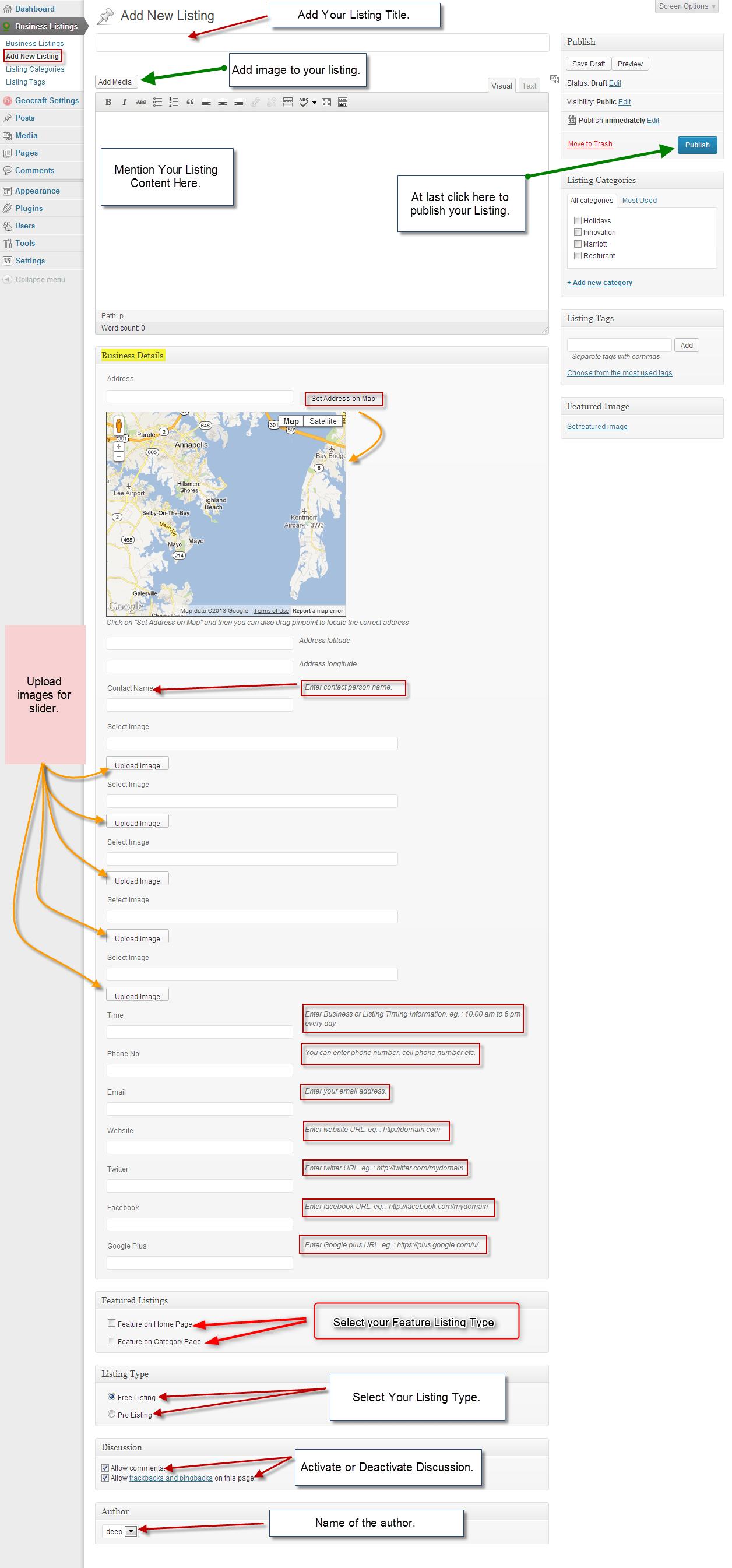 Geocraft WordPress Theme Documentation