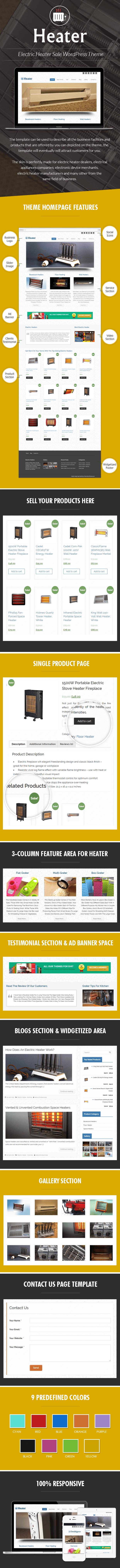 Electric Heater Sale WordPress Theme sales