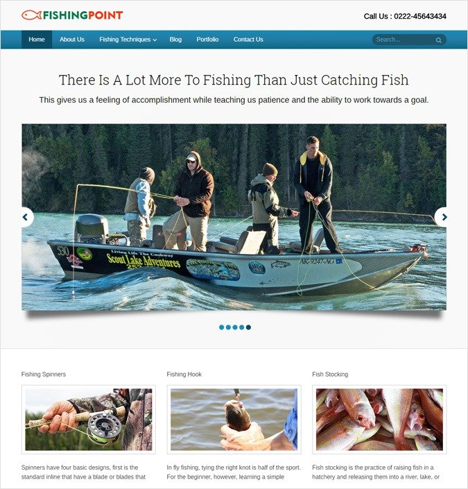 FishingPoint WP theme
