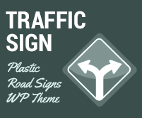 Traffic Sign - Plastic Road Signs WordPress Theme & Template