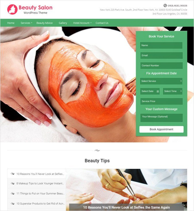 BeautySalon WP theme