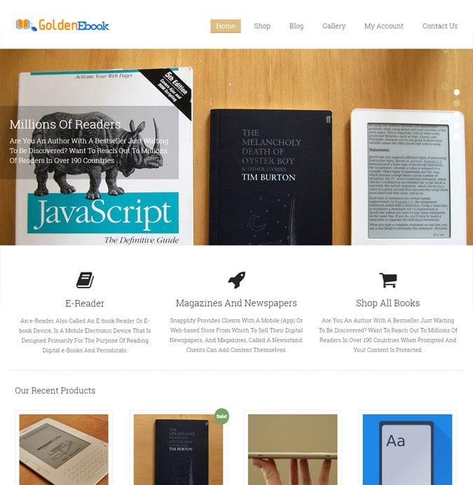 Golden Ebook WP theme