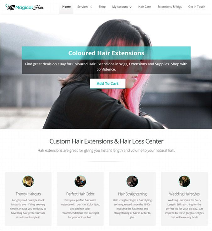 MagicalHair WP theme