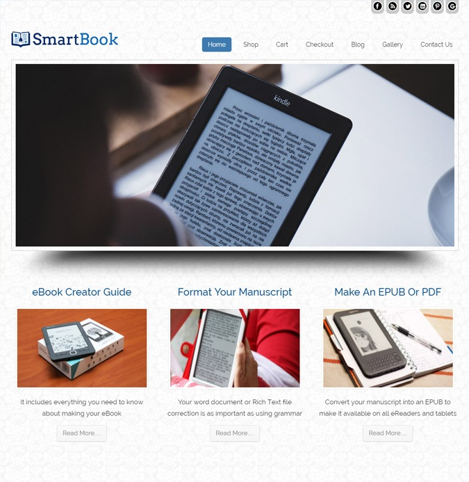 Smartbook WP theme