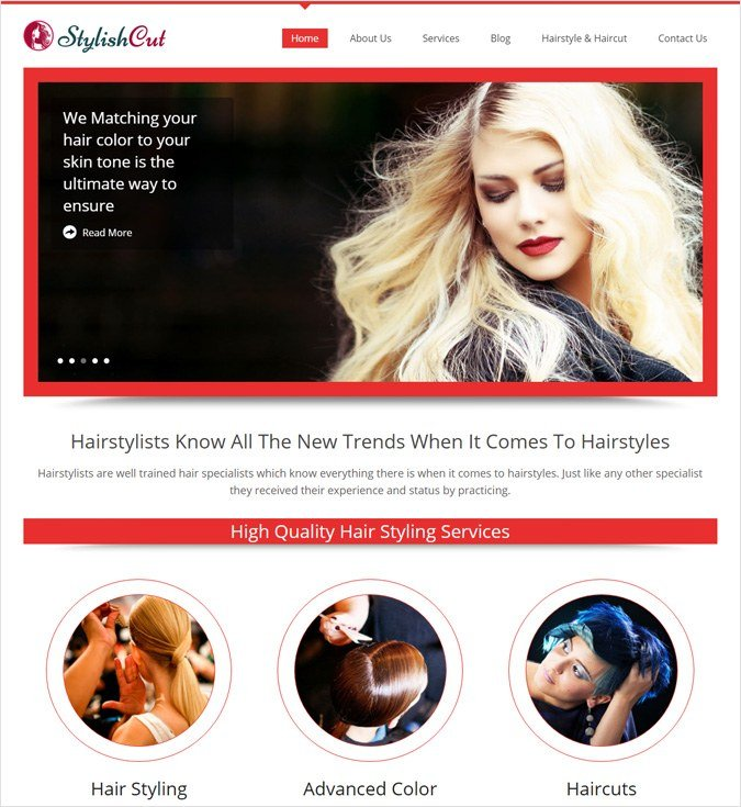 StylishCut WP theme