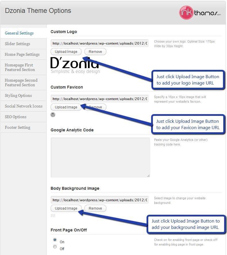 Dzonia WordPress Theme Documentation