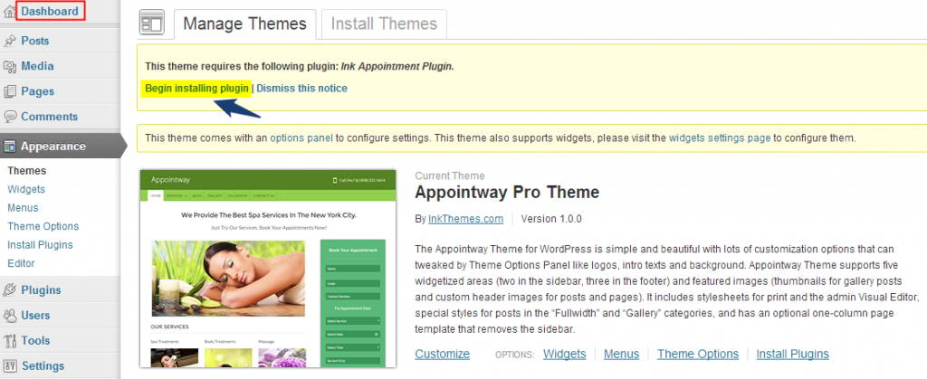 Appointway WordPress Theme Documentation