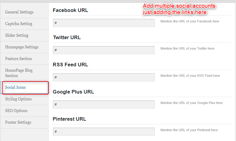 Social Accounts Configuration