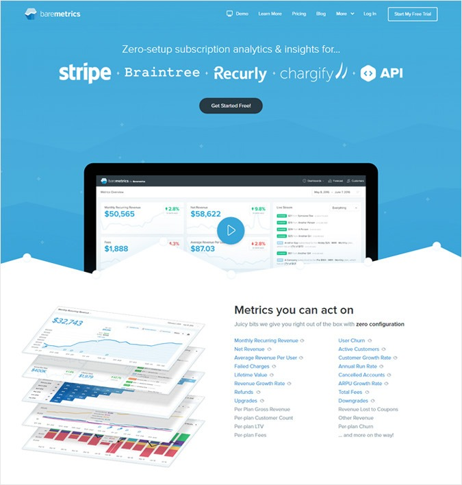 Baremetrics - Best Payment Metrics Software - Analytics For PayPal Or Stripe