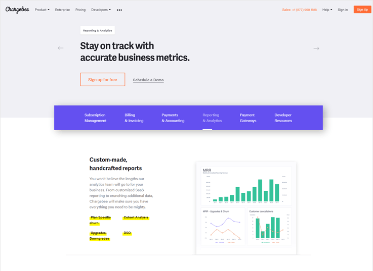Chargebee - Cheap Alternatives & Competitors Of ChartMogul