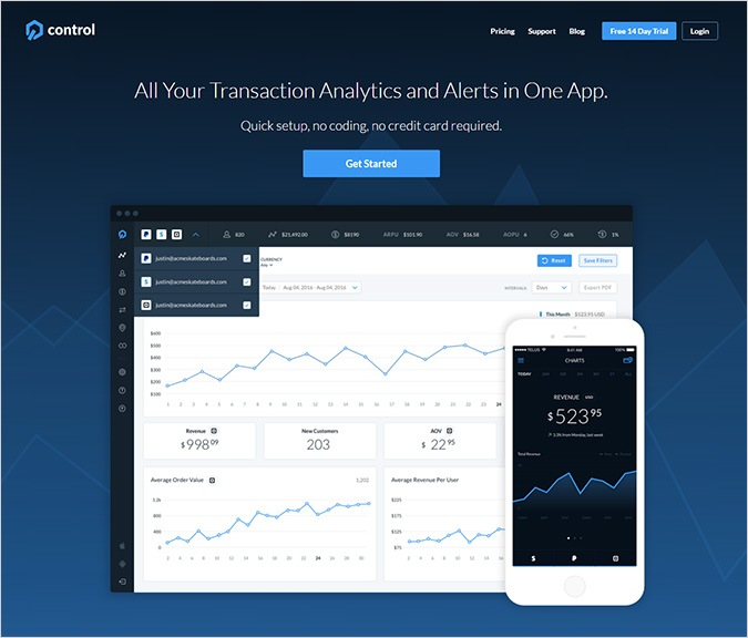 Payment Analytics Software by GetControl
