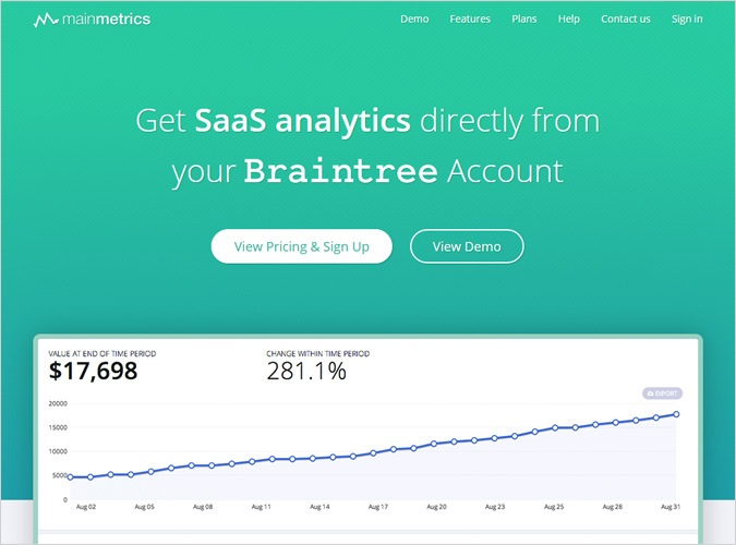 Alternative For Baremetrics by Mainmetrics