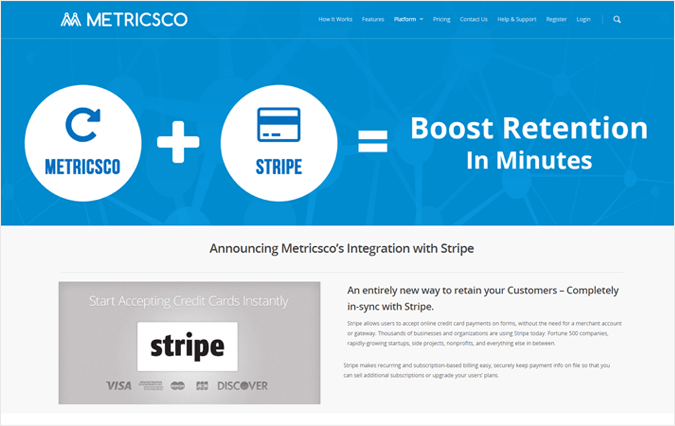 Metricsco Payment Reporting Software For Stripe