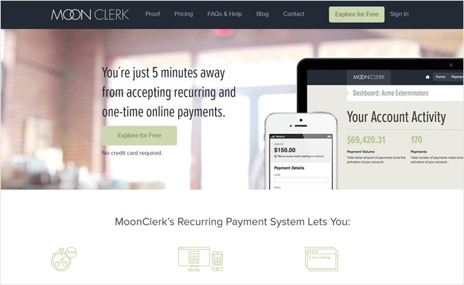 MoonClerk Subscription Management Provider