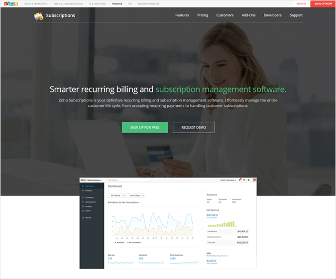 Zoho - Best PayPal Payment Analytics Software