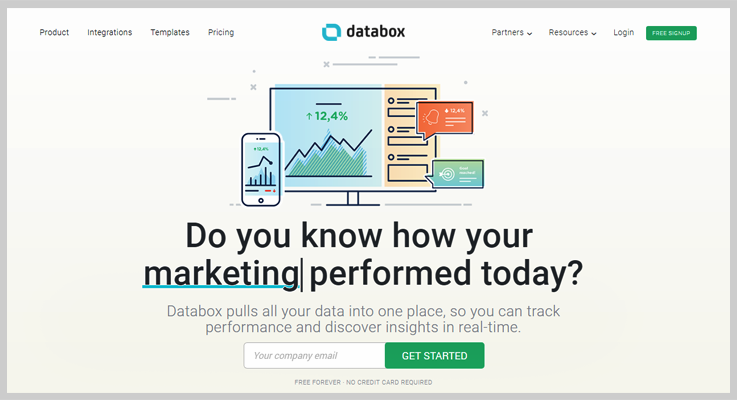 Databox - Best Payment Metrics Software - Analytics For PayPal Or Stripe