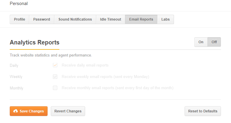 Personal-email-reports(off -mode)
