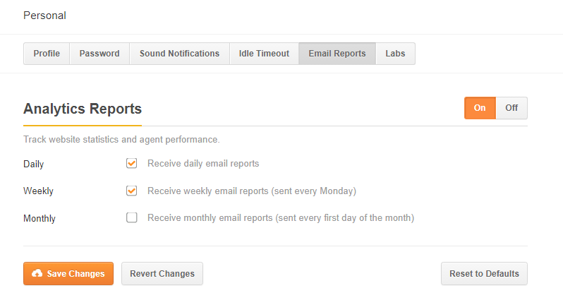 Personal-email-reports(on mode)