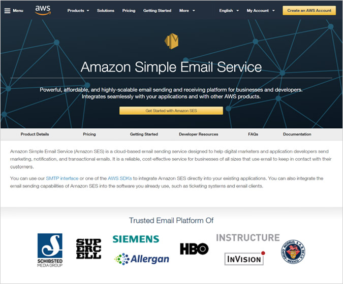 Amazon SES - 5 Cheap SMTP Server For Email Marketing
