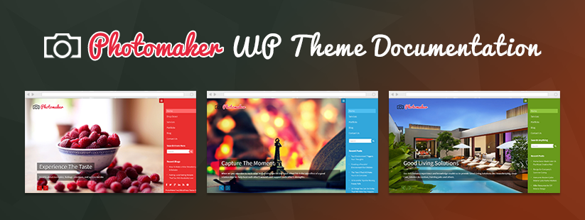 PhotoMaker WordPress Theme Documentation