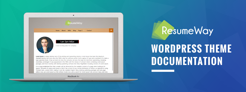ResumeWay WordPress Theme Documentation