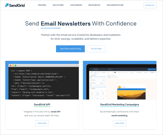 SendGrid Email Marketing Service
