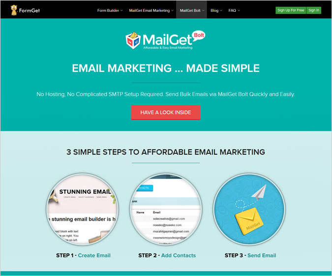 Mailget-Bolt Email Marketing Software