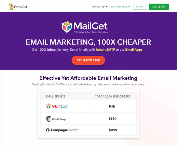MailGet - Cheap Email Marketing Services