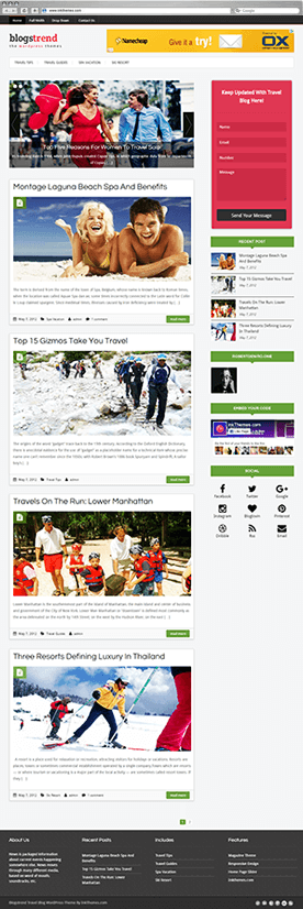 BlogsTrend  Theme Previews (Multiple Examples)