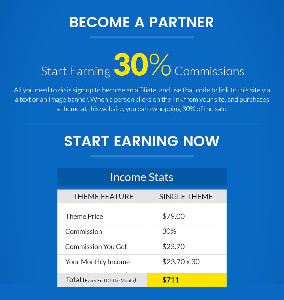 affiliate marketing program - have a decent commission