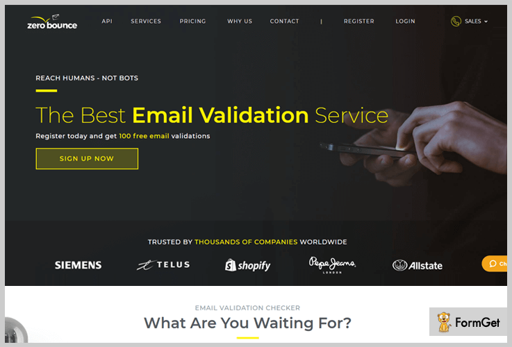 zero-bounce email list cleaning service