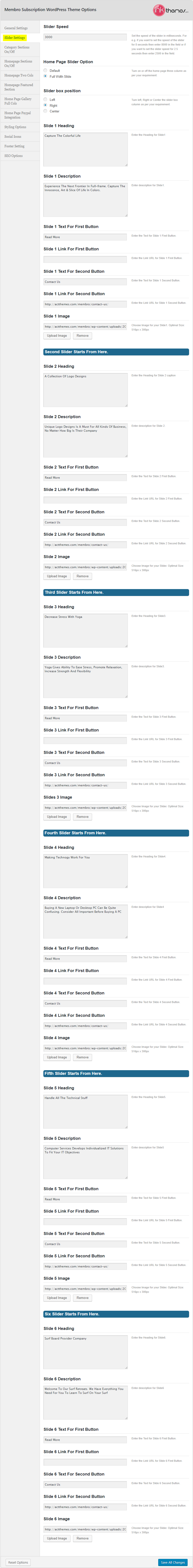 Membro_Theme Options_Slider Settings