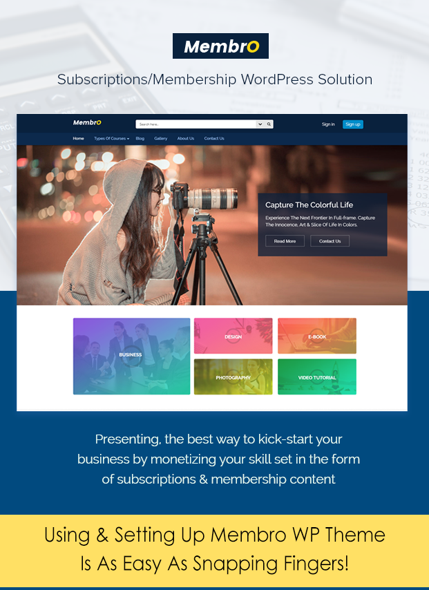 Sales Page Image Subscription WordPress Theme
