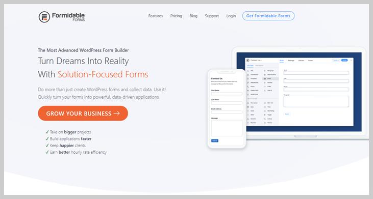 FormidableForms - Online form builder