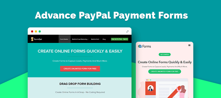 Advance PayPal Payment Forms