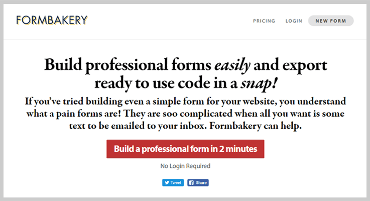 Formbakery Web Form Builder