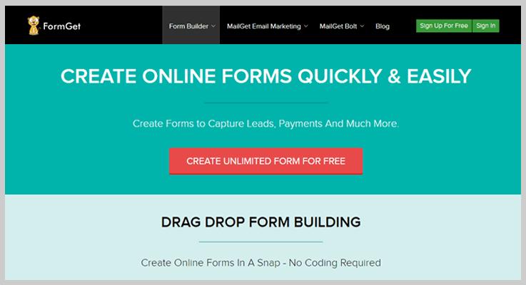 FormGet Online Form Builders