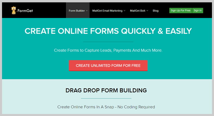 FormGet Form Builder Software