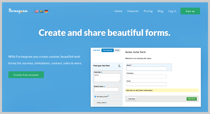 Formogram Form Creator Software