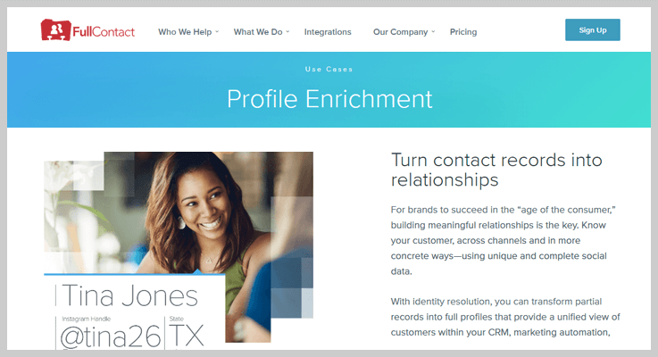 FullContact Find Social Media Profiles By Email Address