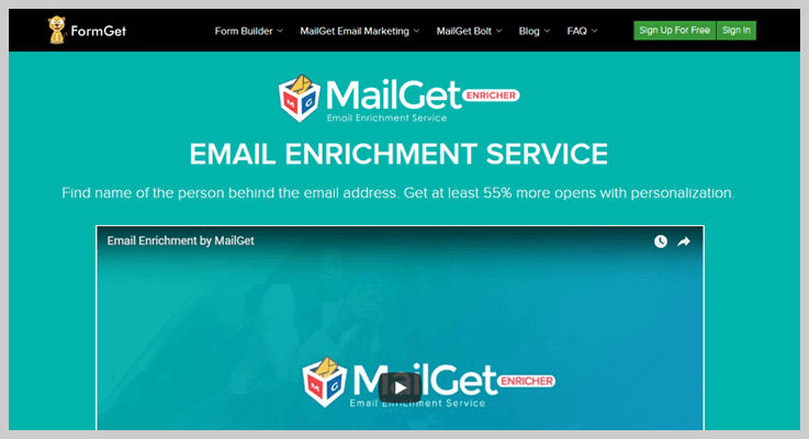 MailGet Email Enrichment Service