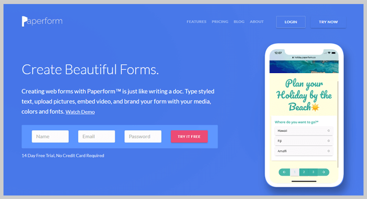 Paperform Web Form Builder