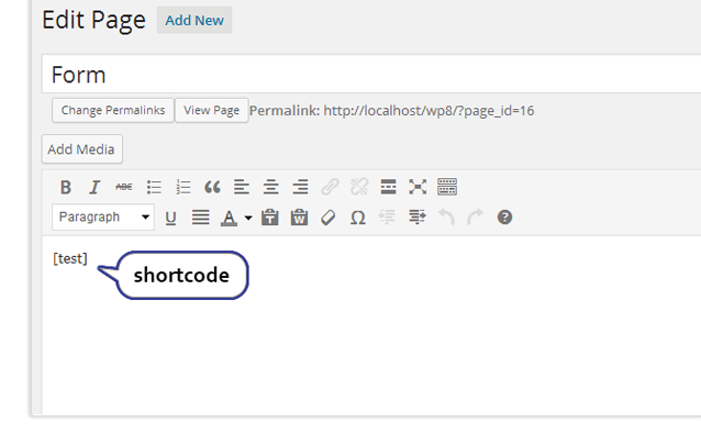 Apply shortcode