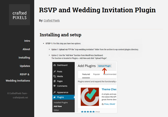 Installing & Setup - RSVP And Wedding Invitation Plugin
