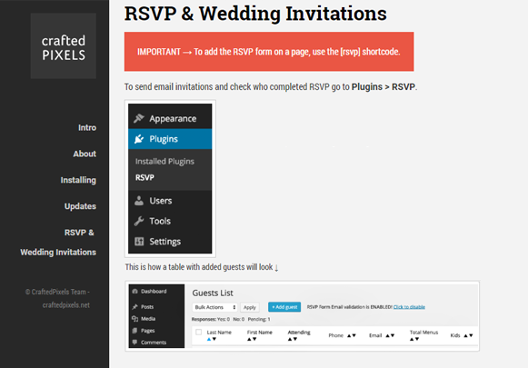 RSVP & Wedding Invitations - RSVP And Wedding Invitation Plugin